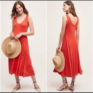 Anthropologie Maeve red Abroad dress